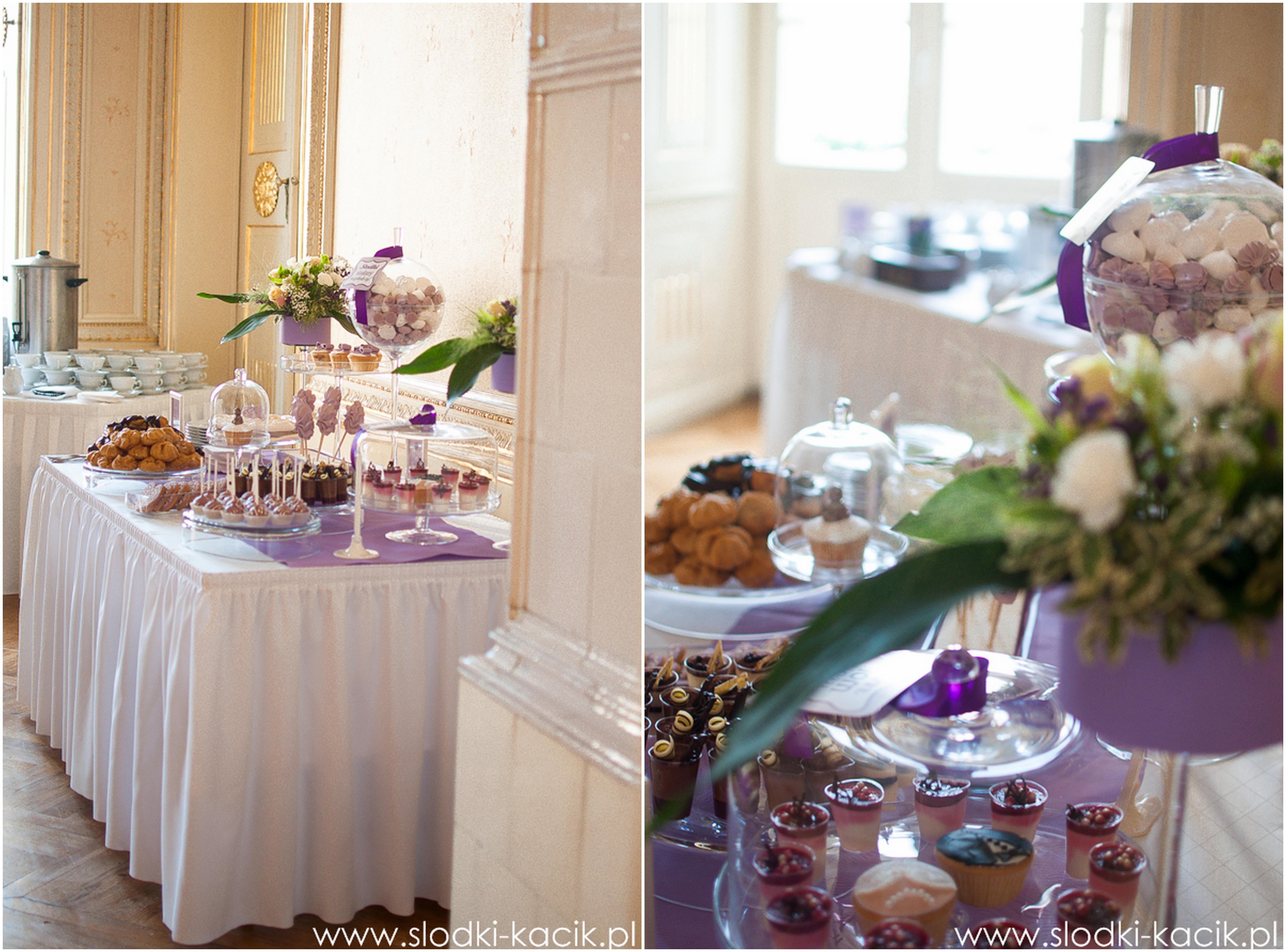 Słodki Kącik lawenda, słodki stół, słodki bufet, candy bar, tort weselny, ciasto wesele, ślub, pavlova, ciasteczka, słodycze, lizaki, buteleczki, cakepop, cupcake,  popcorn (7)