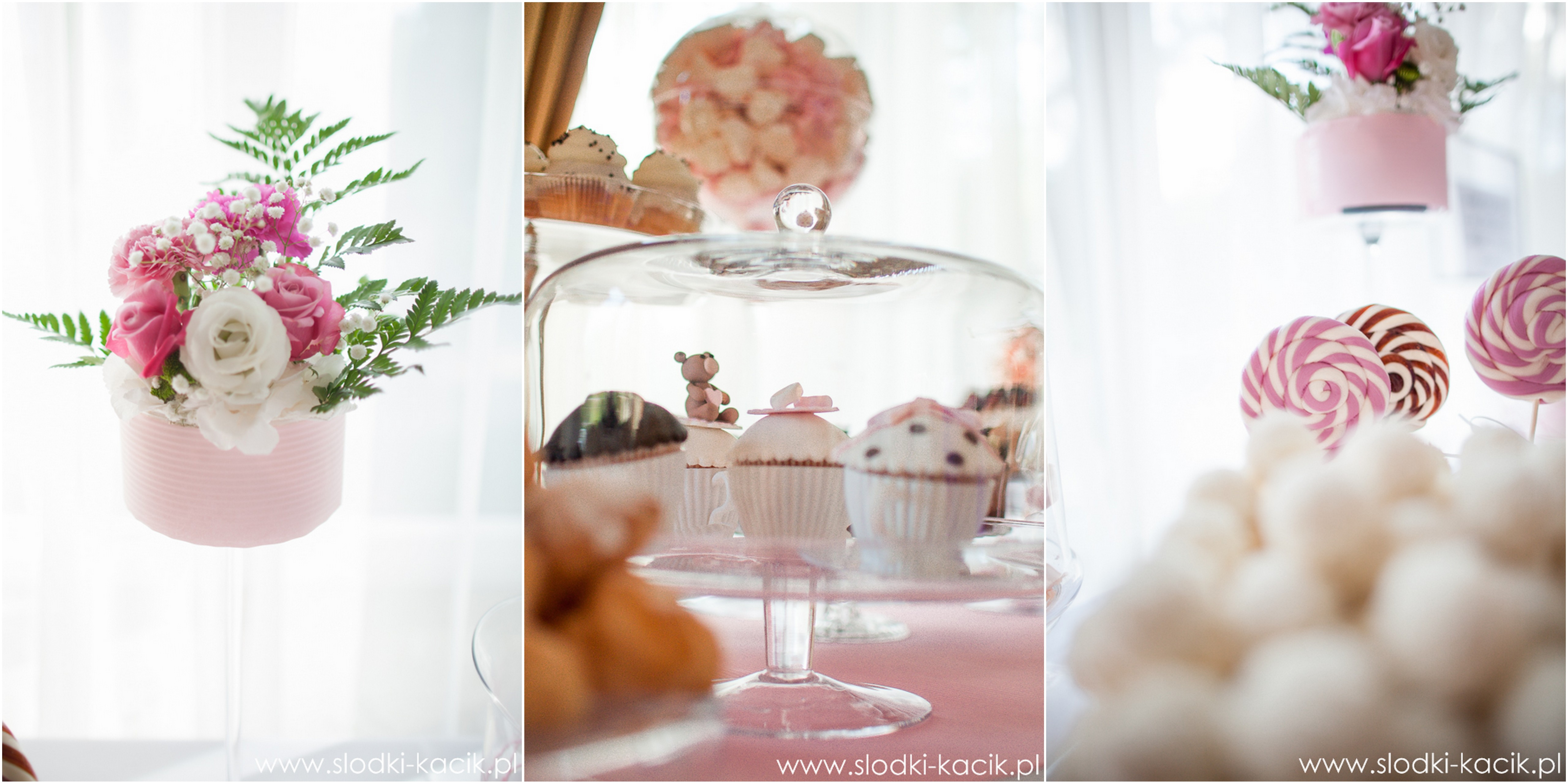 Słodki Kącik roz kropki, słodki stół, słodki bufet, candy bar, tort weselny, ciasto wesele, ślub, pavlova, ciasteczka, słodycze, lizaki, buteleczki, cakepop, cupcake,  popco (4)