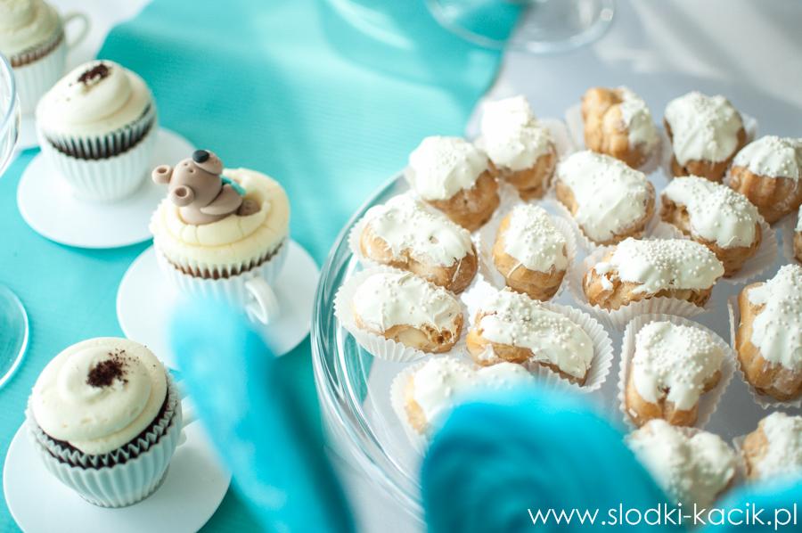 Słodki Kącik tiffany blue, słodki stół, słodki bufet, candy bar, tort weselny, ciasto wesele, ślub, pavlova, ciasteczka, słodycze, lizaki, buteleczki, cakepop, cupcake,  popcorn (2)